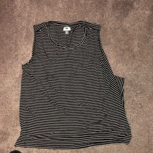 Old Navy size xxL black and white striped tank